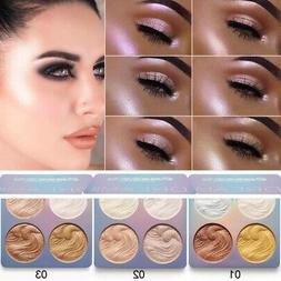 CmaaDu Face Powder Highlighter Bronzer Makeup Contour Palett
