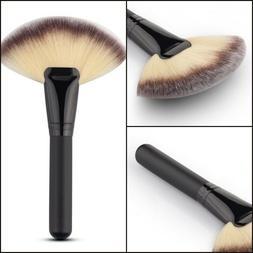 Fan Shape Makeup Brush Face Powder Highlighter Blender Cosme