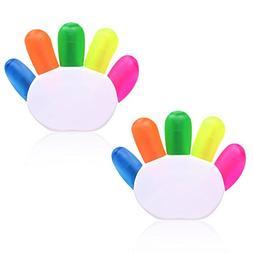Cosmos ® Pack of 2 Finger Shape Highlighter Cute Fluorescen