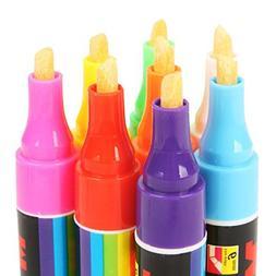 JingyangO Set of 8 Colors Fluorescent Marker Pens Night Ligh