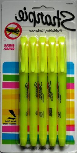pocket style yellow fluorescent highlighter narrow chisel