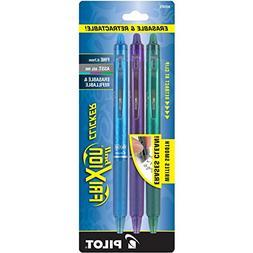 Pilot FriXion Clicker Retractable Erasable Gel Pens, Fine Po