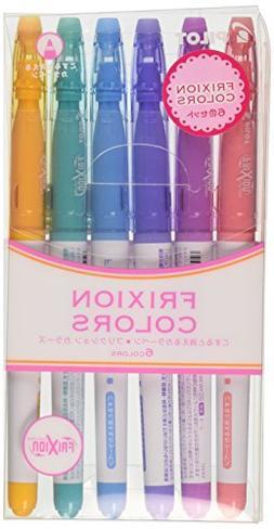 Pilot FriXion Colors Erasable Marker, 6 Color Set