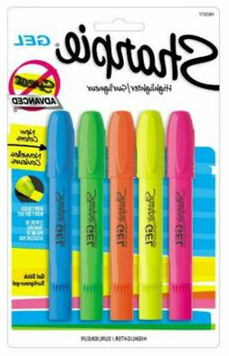Gel Highlighter, Assorted Colors, 5 per Pack