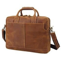 Texbo Genuine Leather Men s Briefcase Messenger Tote Bag Fit