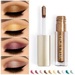Glitter Metallic Liquid Eyeshadow Shimmer Eye Make Up Face H