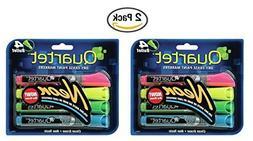 Quartet Glo-write Neon Dry-Erase Markers, Bullet Tip, Assort