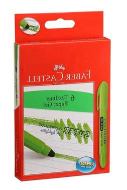 Green Faber-Castell Gel Textliner Highlighter Pack of 6 Free