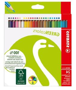 Stabilo Green Colored Pencil Set of 24, No Tax, Free Ship