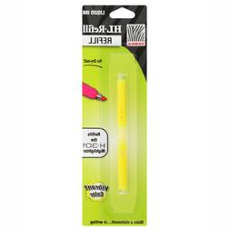 Zebra H-301 Stainless Steel Highlighter HL-Refill, Yellow In