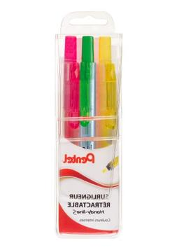 Pentel Handy-Line S Highlighter Pens Pack of 3 Assorted Colo
