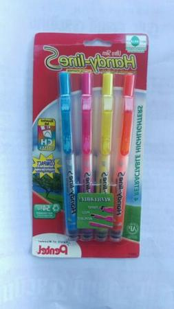 Handy-line Ultra Slim 4 Retractable Highlighters Pentel Pink