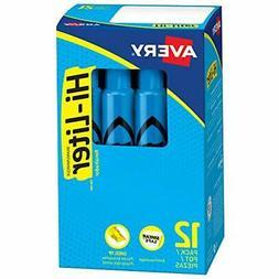 Avery Hi-Liter Desk-Style Highlighters, Smear Safe Ink, Chis