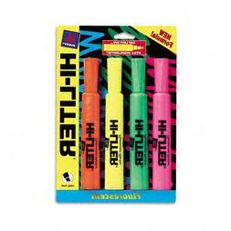HI-LITER : Fluorescent Highlighter, Chisel Tip, Blue/Green/P