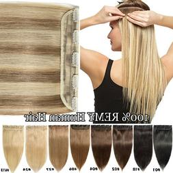 Highlight Long Clip in One Piece Remy Human Hair Extensions