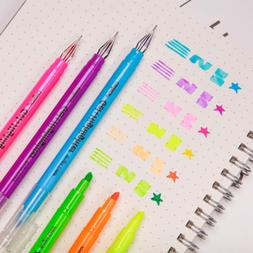 CHoSCH Highlighter And Gel Pen 2 In 1 Combo Pen Pack, 6 Colo