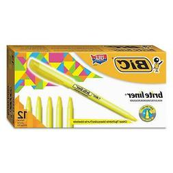 BIC Highlighter Chisel Tip Fluorescent Yellow Durable Fun Bu