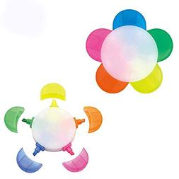 Unetox Highlighter Flower Shape Lovely Candy Fluorescent Col