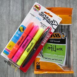 Highlighter Set Translucent Gel Stick Markers Study No Bleed