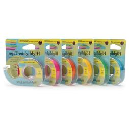 HIGHLIGHTER TAPE by LEE PRODUCTS - 6  COLORS - ECONOMY SIZE