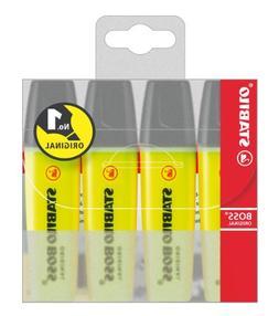 Highlighter - STABILO BOSS Original Yellow Wallet of 4