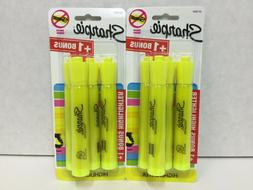 Sharpie  Highlighter Yellow, 3 Pkgs Of 4, Quick Dry, Non Sme