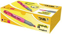 BIC Highlighters XL Fluorescent Pink 10 Box