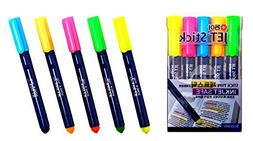 Highlighters,Inkjet Safe Jet Stick Solid Gel, Assorted Color