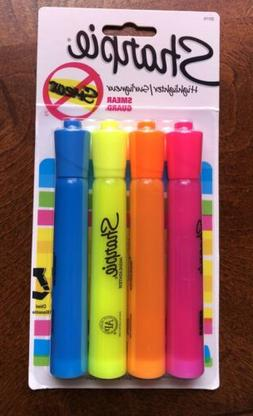Sharpie Highlighters Pack Of 4 Pink Orange Yellow Blue Smear
