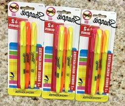 Sharpie Highlighters Yellow Orange Pink LOT OF 3