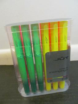 TUL HL Series Assorted Color Highlighters 12-Pack: Green, Ye