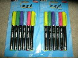 Staples Hype! Pen-Style Highlighters, Assorted, 6/Pack
