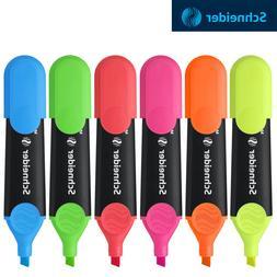 Schneider Job 150 Gel Highlighter Pens Safety Colourful 6 Co