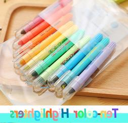 Korean Solid Highlighter 10 Colors Stationery Bright Colour