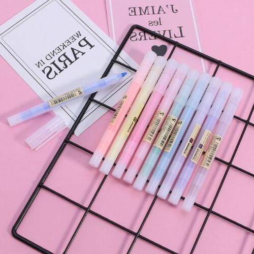 10pcs fluorescent pen mild liner highlighters color