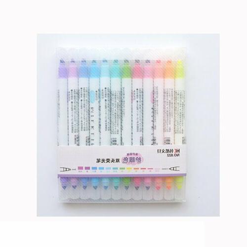 12 Highlighter Set Pen For Student GV