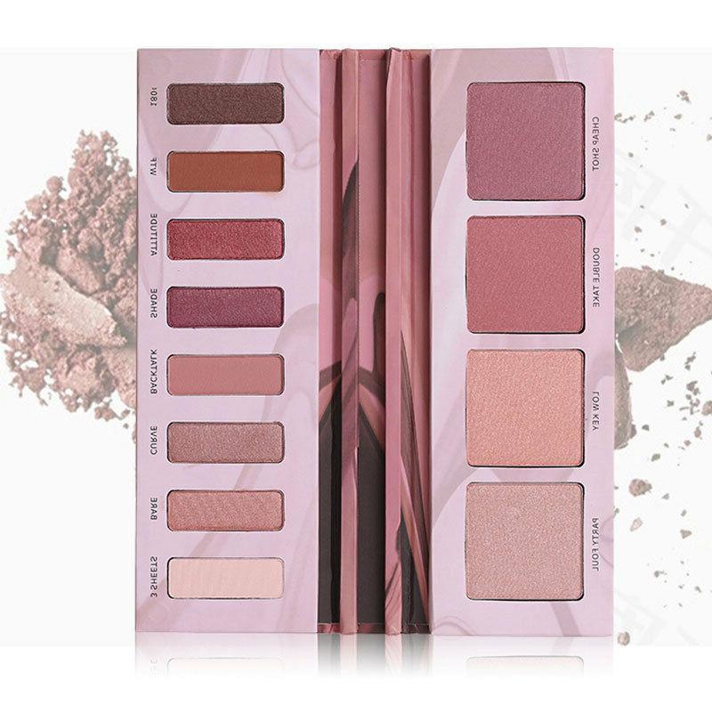12 colors makeup eyeshadow powder highlighter blusher