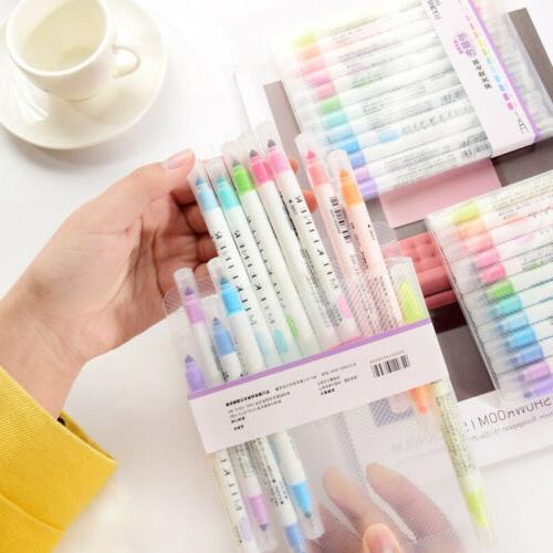12PCS Marker Pen Bright Stationery