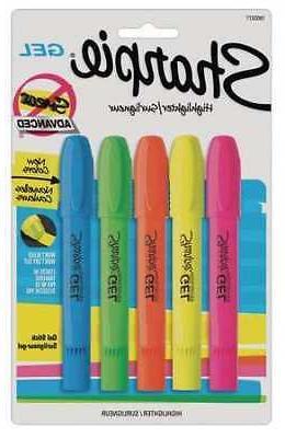 SHARPIE 1803277 Gel Highlighter Set, Gel Stick, Non Smearing