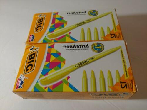 2 brite liner highlighter chisel tip yellow