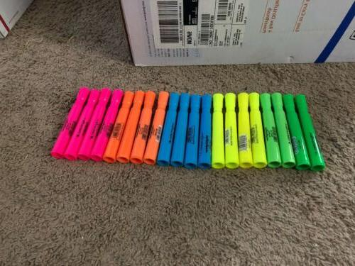 20 count highlighters chisel tip wexford yellow