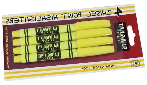 22 1563 4 count fine tip yellow
