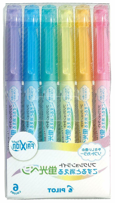6 soft colors set frixion light erasable