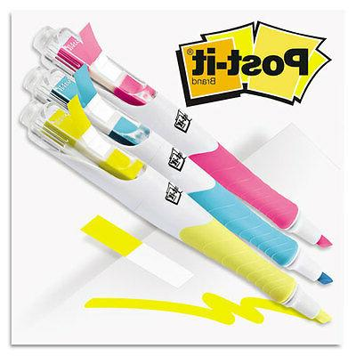 3M 689HL3 Flag + Highlighter  Blue/Yellow/Pink  50 Flags/Pen