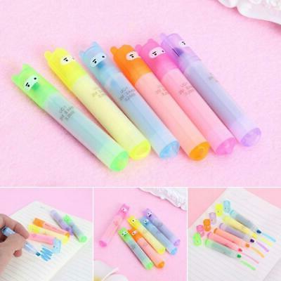 6 colors Korean Mini Highlighter Lovely Cartoon Marking Pen