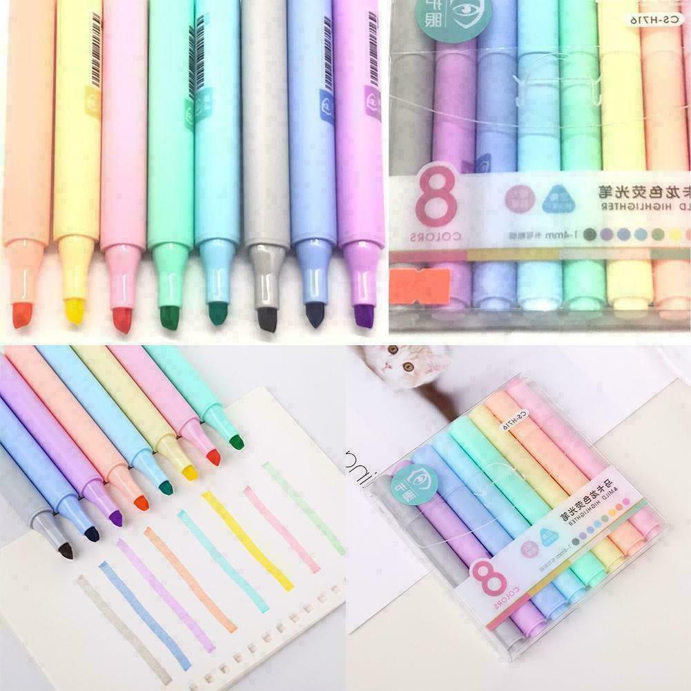 8 Colors Pen Highlighter Pencil V4V5 Head