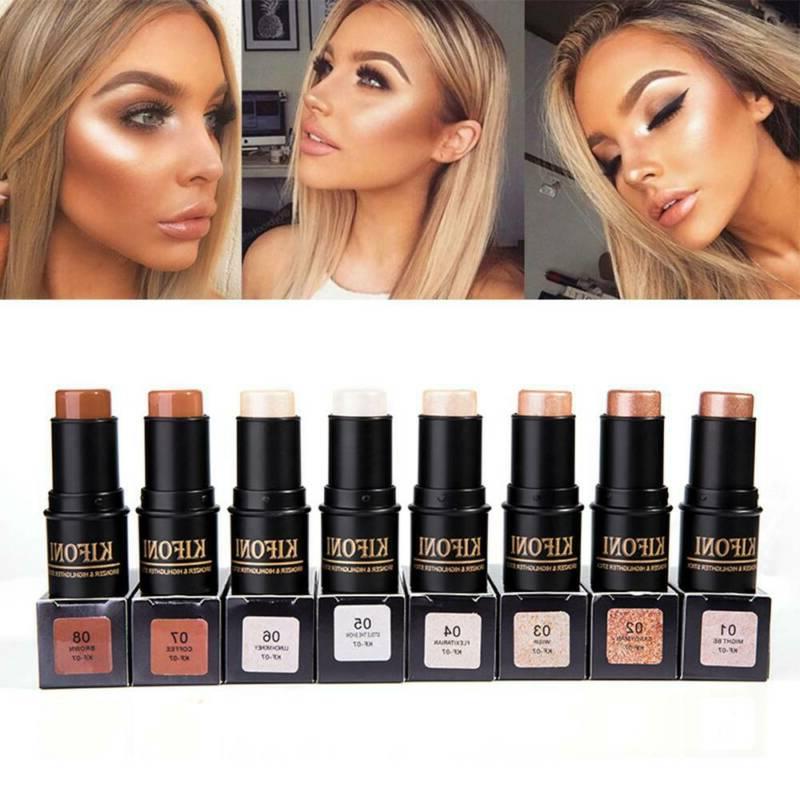 8 colors face highlighter bronzer shimmer cream