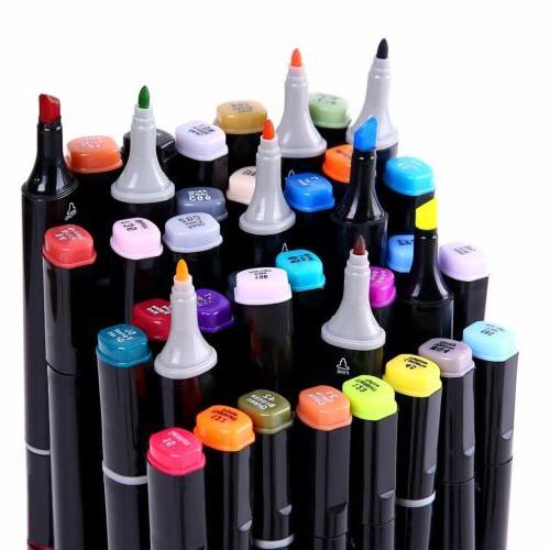 Ohuhu 80 pcs Dual Tips Art Sketch Twin Permanent Marker Pens