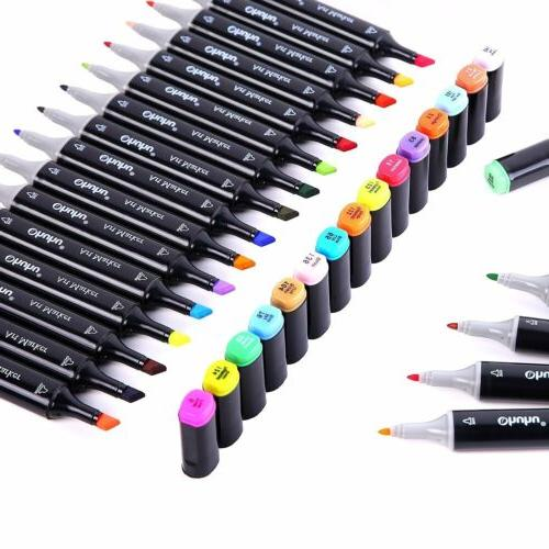 Ohuhu120/100/80/60 Colors Art Twin Pens Highlighters&Bag