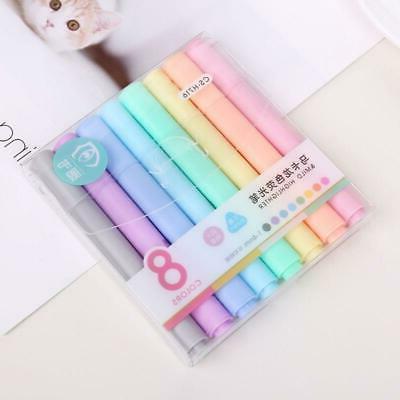 8pcs/set Creative Highlighter Pencil Fluorescent Pen Candy C